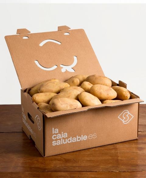 Patatas con piel fina y color claro